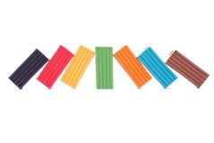 Multicolored plastlin Stock Foto's