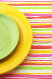 Multicolored plates Royalty Free Stock Image