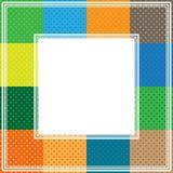 Multicolored polka dot border. Border with abstract multicolored polka dot frames Royalty Free Stock Photos