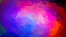 Multicolored polygonal mosaic background,  illustration. Stock Image