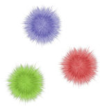Multicolored pompons Royalty Free Stock Image