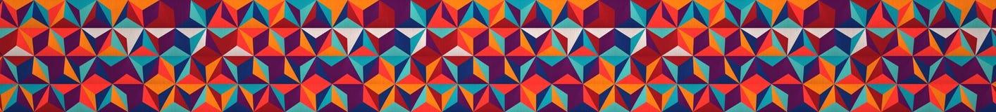 Multicolored Pop Art Geometric Background (Website Head) Stock Image