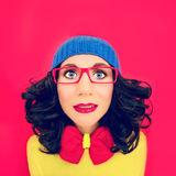 Multicolored portrait funny girl Stock Images