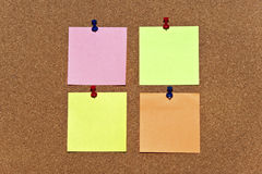 Multicolored post it notes Stock Image