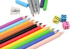 Multicolored potloden Royalty-vrije Stock Afbeelding
