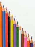 Multicolored potloden Stock Foto's