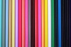 Multicolored potloden abstracte achtergrond Royalty-vrije Stock Afbeeldingen