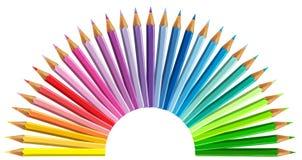 Multicolored potloden op witte achtergrond worden geïsoleerd die Stock Fotografie