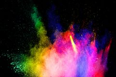 Free Multicolored Powder Explosion On Black Background.Abstract Colorful Dust Particles Textured Background Royalty Free Stock Photos - 140891418