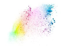 Multicolored powder explosion Royalty Free Stock Photo