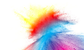 Multicolored powder splash Royalty Free Stock Photography