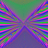 Multicolored psychedelic lines stock illustration