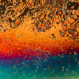 Multicolored psychedelic soap bubble abstract background Royalty Free Stock Photos