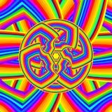 Multicolored psychedelisch patroon Stock Afbeelding