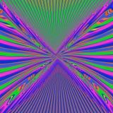 Multicolored psychedelische lijnen Stock Afbeelding