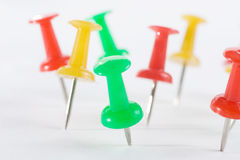Multicolored Pushpins Royalty Free Stock Photography