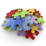 Multicolored puzzle Royalty Free Stock Images