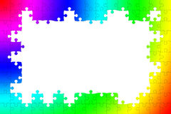 Multicolored puzzle frame Royalty Free Stock Image