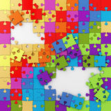 Multicolored Puzzle Illustration, Jigsaw, background Stock Photo