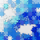 Multicolored Puzzle Illustration, Jigsaw Royalty Free Stock Photography