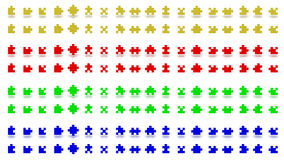 Multicolored puzzle pieces. 3D rendering of the puzzle pieces of different colors Stock Photography