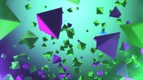 Multicolored pyramides die in de lucht vliegen Royalty-vrije Stock Afbeelding