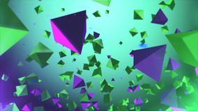 Multicolored pyramides flying in the air Royalty Free Stock Image