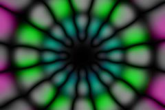 Multicolored radiaal cirkel donker patroon royalty-vrije stock foto