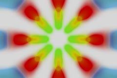 Multicolored radiaal cirkel licht patroon vector illustratie