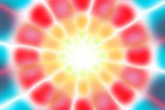 Multicolored radiaal cirkel licht patroon stock foto