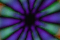 Multicolored radial circle dark pattern. Green, violet, blue and black radial circle pattern stock photography