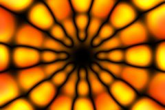 Multicolored radial circle dark pattern. Orange, yellow and black radial circle pattern stock photos