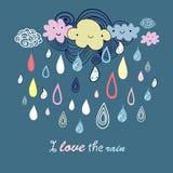 Multicolored rain Royalty Free Stock Photography