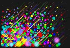 Multicolored rain. Liquid precipitation with a smaller diameter are called drizzle drops stock illustration