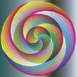 Multicolored Rainbow Circle. Rainbow Spiral Wave Circle in full color spectrum Stock Photography