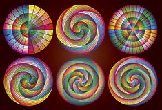Multicolored Rainbow Circles Royalty Free Stock Photos