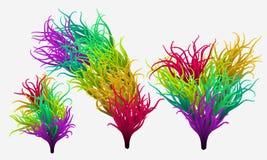Multicolored rainbow happy Stock Images