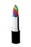 Multicolored rainbow lipstick Royalty Free Stock Photo