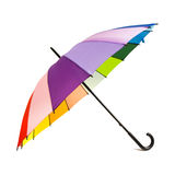 Multicolored rainbow umbrella Stock Images