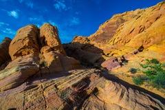 Multicolored Rainbow Vista Valley of fire Nevada Royalty Free Stock Photo