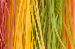 Multicolored raw noodles Royalty Free Stock Photos