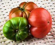 Multicolored Raw Tomatoes Royalty Free Stock Images