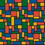 Multicolored rectangle seamless pattern Royalty Free Stock Photo