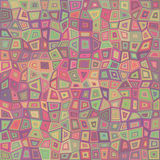 Multicolored rectangle tile mosaic background Royalty Free Stock Photos