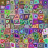 Multicolored rectangle tile mosaic background Royalty Free Stock Image