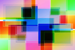 Multicolored Rectangles Stock Photography