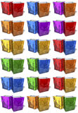 Multicolored, reflecting shopping bags, doubles Stock Photography