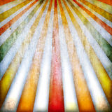 Multicolored retro background with rays Stock Photography