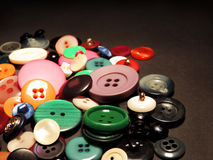 Multicolored retro buttons Royalty Free Stock Images