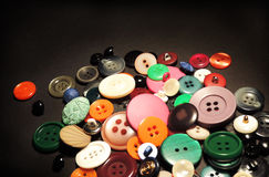 Multicolored retro buttons Royalty Free Stock Photos